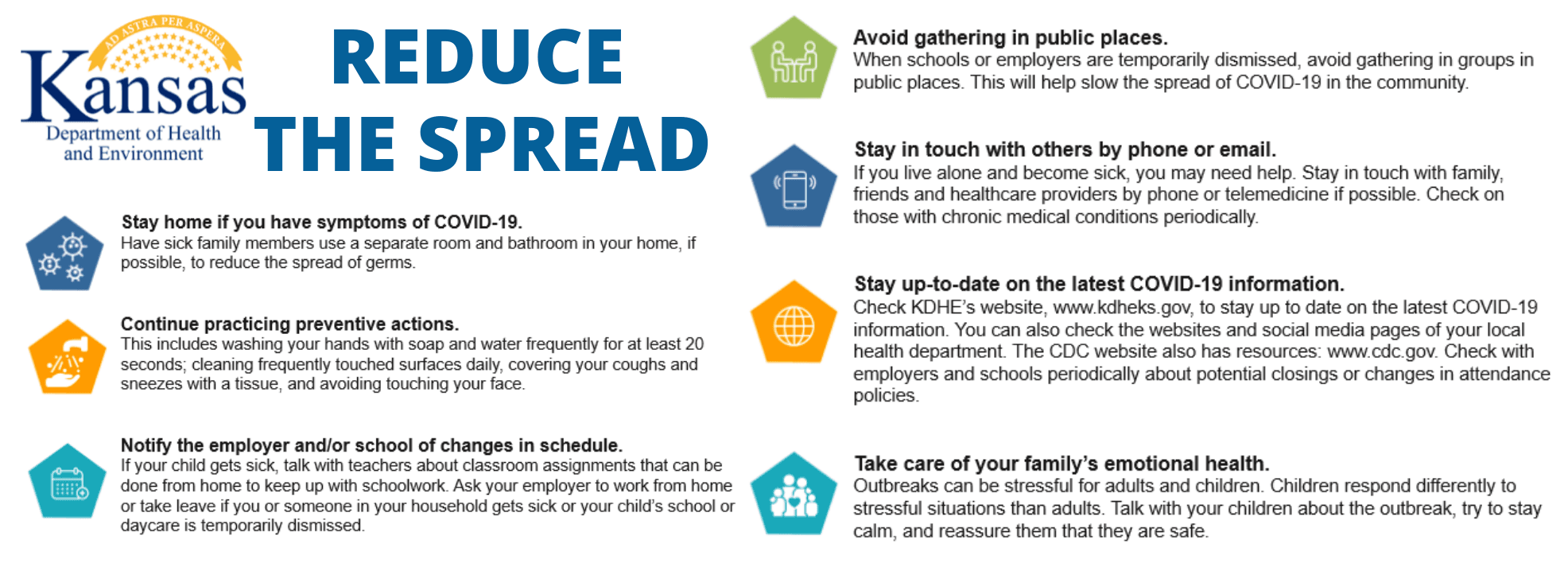 TIPS TO REDUCE THE SPREAD OF COVID-19