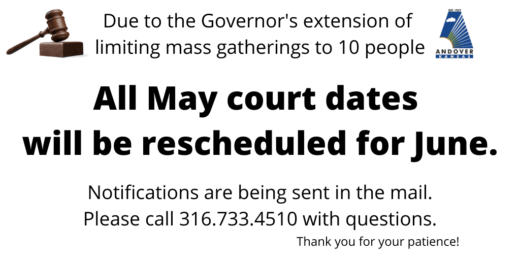 May court rescheduled for June